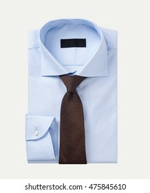 men shirt clothing with tie isolated on white.