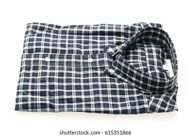 Men shirt fot clothes isolated on white background