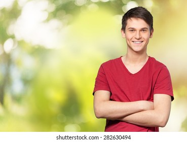 Men, Smiling, T-Shirt.