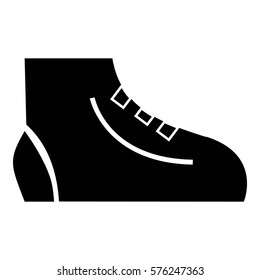 Men sport sneakers icon. Simple illustration of men sport sneakers  icon for web