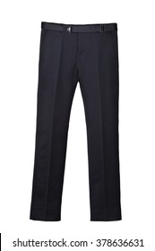 Men Straight Leg Casual Long Black Trouser with expandable waistband , Business Form
