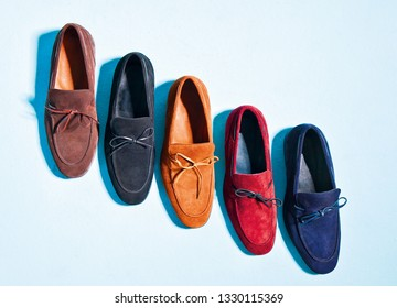 Men suede shoes isolated