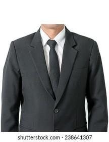 Men suits white background.