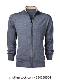 men sweater isolated on white with clipping path.