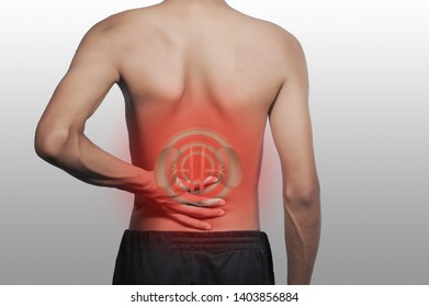 Men are thin, kidney pain, red means pain.