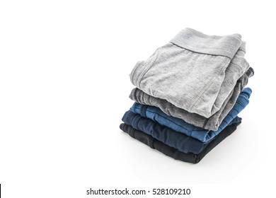 men underwear isolated on white background
