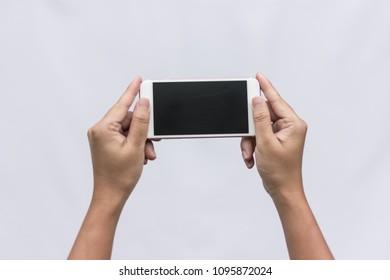 Men Using a Smart Phone Concept.