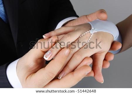 Men Wear Wedding Ring On Finger Stock Photo Edit Now 51442648