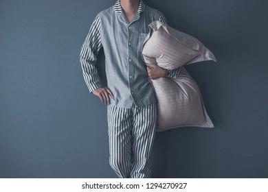 Men wearing pajamas