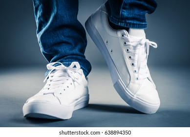 Men wearing sneakers