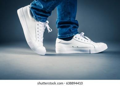 Men wearing sneakers