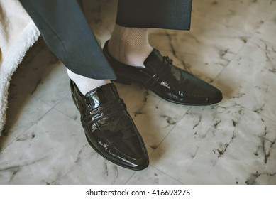 White Socks and Black Shoes Images