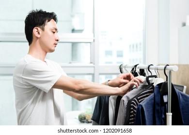 Men who choose clothes