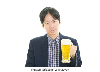 Men who drank too much beer