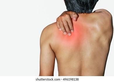 Men who have health problems, muscle pain, shoulder pain
