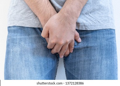 Men who hold the crotch