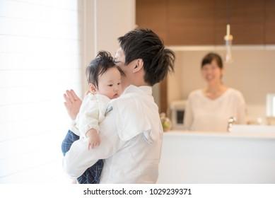 Men who take childcare