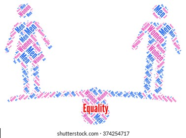 Men and women sex equality sign