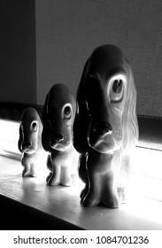 Menacing Pottery dogs series