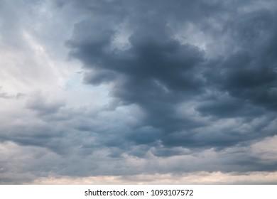 menacing rain clouds. Sky