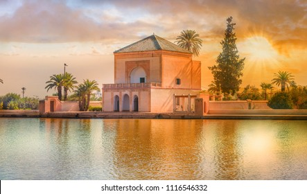 Menara Pavilion and Gardens of  Marrakesh, Morocco.