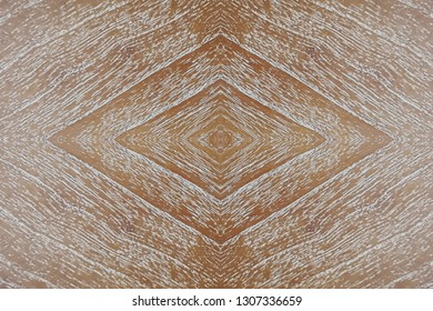 mende wood veneer panel board, white washed finish with abstract rhombus pattern