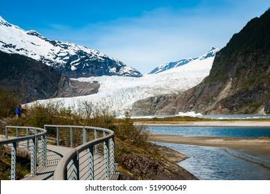 Menden Hall Glacier in Alaska.