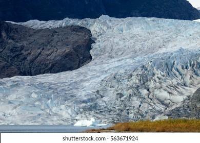 Mendenhall Glacier, Alaska, Juneau, Mendenhall Glacier,