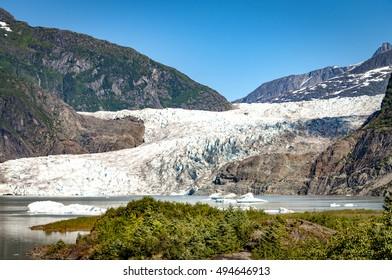 The Mendenhall glacier, Juneau, Alaska