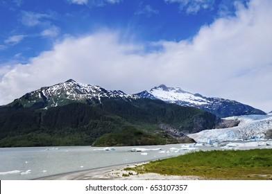 Mendenhall Glacier in Juneau, Alaska.