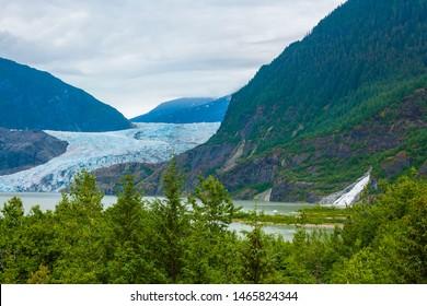 Mendenhall Glacier near Juneau, Alsaka