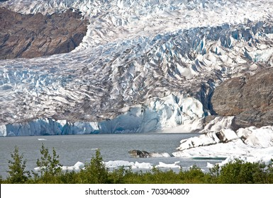 /Mendenhall Glacier/Mendenhall Glacier and lake in Juneau, Alaska.