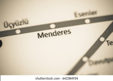Menderes Station. Istanbul Metro map.
