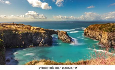 Mendocino county long exposure ocean view