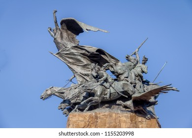 Mendoza, Argentina - Apr 19, 2018: Army of the Andes Monument (Monumento al Ejercito de Los Andes) in Cerro de la Gloria at General San Martin Park - Mendoza, Argentina