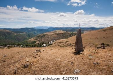 Menhirs of Cham des Bondons, Lozere, France