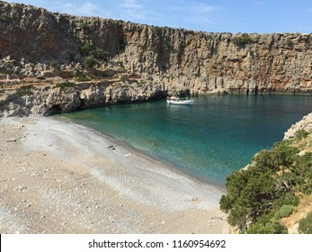 Menies beach in Kissamos Chania located on the NE end of cape Rodopos, 45km NW of Chania