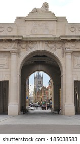 Menin Gate World War 1 Memorial and entrance to Ypres Town in Belgium
