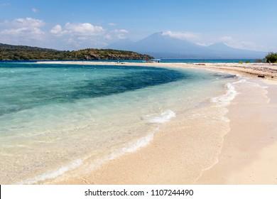 Menjangan Island, West Bali, Indonesia. Seascape, Indian ocean, water, clouds.