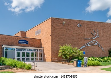 MENOMINEE, WI/USA - AUGUST 17, 2019:  Johnson Fieldhouse on the campus of University of Wisconsin–Stout.