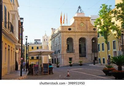 Menorca, Balearic Islands, Spain: the Town Hall of Mahon on July 9, 2013. The Town Hall building was built in 1613