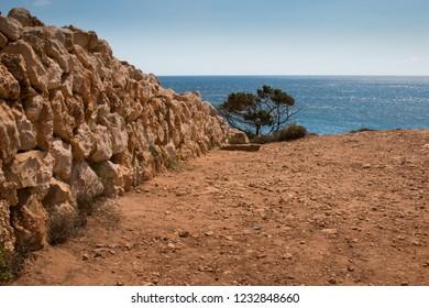 Menorca stone wall