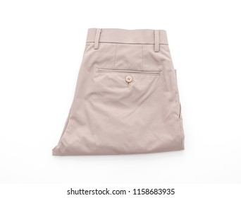 men's beige short pants isolated on white background