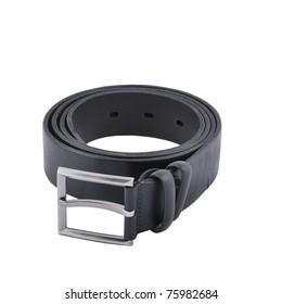 Men's belt isolated on the white background