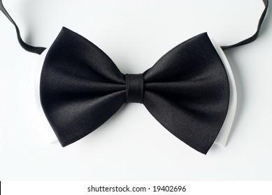 Mens black and white necktie