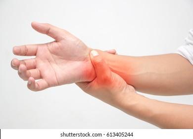 Men's bone pain on white background