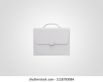 Men's briefcase. Black business briefcase isolated on white background. Diplomat, for office, for laptop, for your design, mockup, blank.