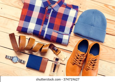 Men's casual clothes and accessories