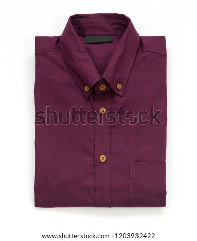 b60fb553 Men's clothing. Business clothes for men with red shirts isolated on a white  background,