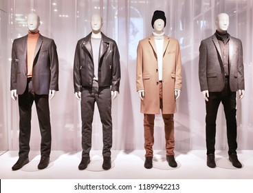 Men's clothing collection.